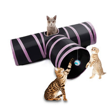 Funny Pet Combination Cat Tunnel Game Channel Collapsible Kitten Puppy Ferrets Rabbit Toys Play Dog Tunnel Tubes Play Toy(China)