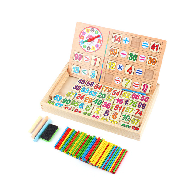 Math Toy Learning Count Sticks Number Calculate Toy Kids Educational Wooden Maths Toys Preschool Teaching Counting Game Toy Gift