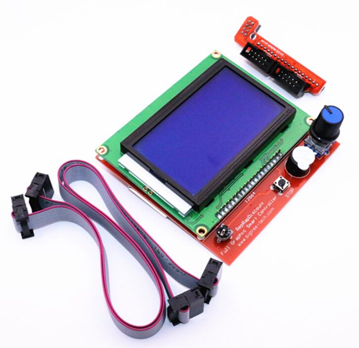 3D Printer Kit Smart Parts RAMPS 1.4 Controller Control Panel LCD 12864 Display Monitor Motherboard Blue Screen Module