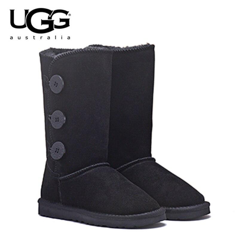 D'hiver Chaud 1873 En 1873 Chaussures Bottes Grey Chocolate Cuir Australie Black Fourrure Ugg Ugged De Chestnut Femmes Pour 1873 1873 Uggs Véritable vxgxOR8qw