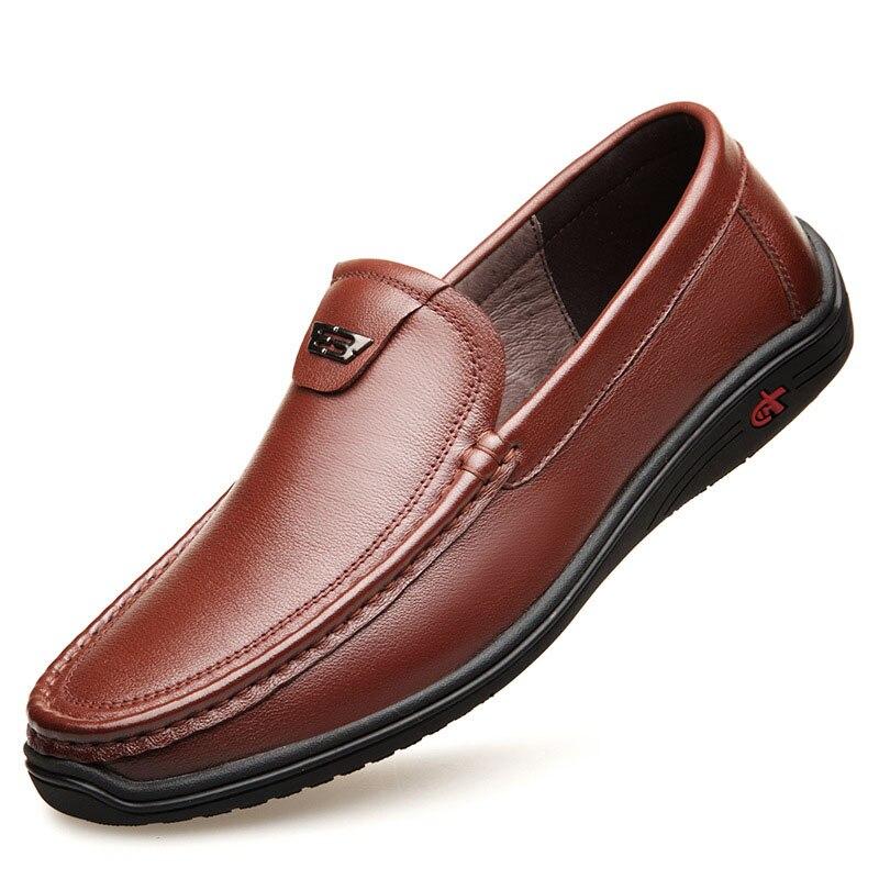 Ronda La black Transpirable Casuales Cómodo Zapatos Cabeza Los Brown Directo Baja Guisantes Hombres De Ventilación Cuero 2019 Fábrica xwPpqS7qg