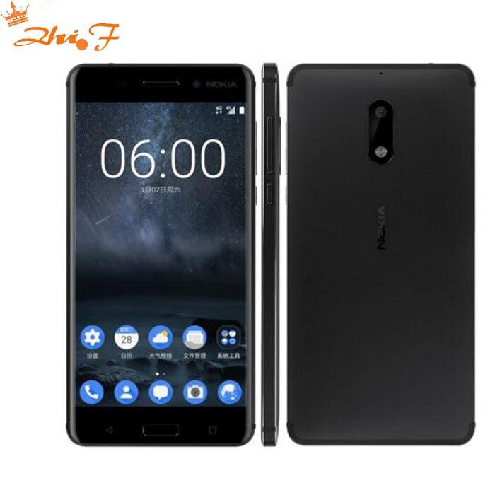 new Hot Original Nokia 6 LTE 4G Mobile Phone Android 7 Qualcomm Octa Core 5.5'' Fingerprint 4G RAM 64G ROM 3000mAh 16MP Nokia6