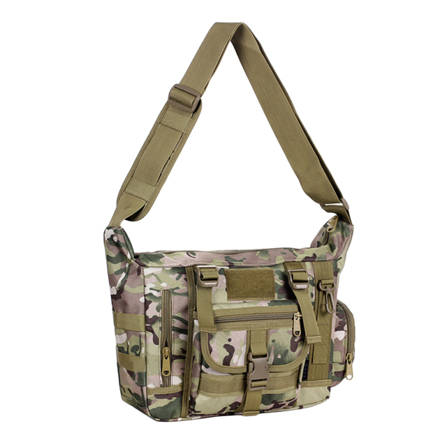 10d6dd5a2 Mens Nylon Large Crossbody Bag Shoulder Bag Pack for Ipad/ Notebool/ A4  Magazines CP Camouflage