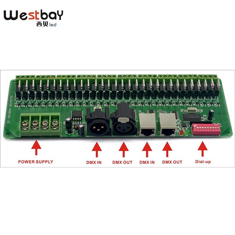 Pulsuz çatdırılma Easy DMX 30CH LED RGB Controller, dekoder və - İşıqlandırma aksesuarları - Fotoqrafiya 3