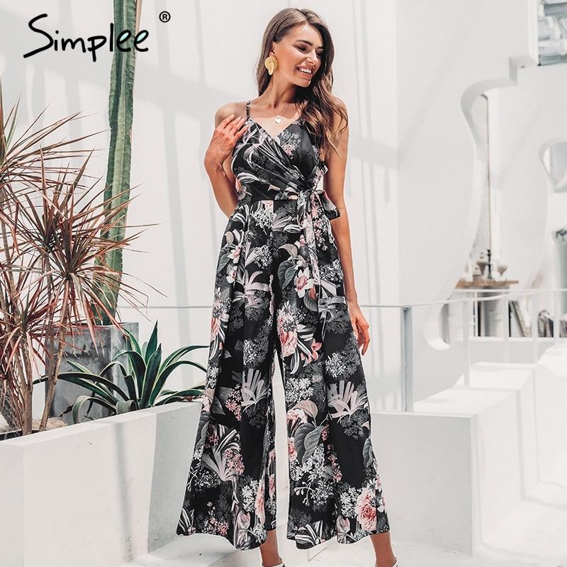 Simplee Floral Jumpsuit S19JU6256