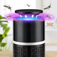 Usb elétrico mosquito assassino lâmpada led bug zapper fotocatalisador anti mosquito repelente assassino luz inseto armadilha controle de pragas|Repelentes| |  -