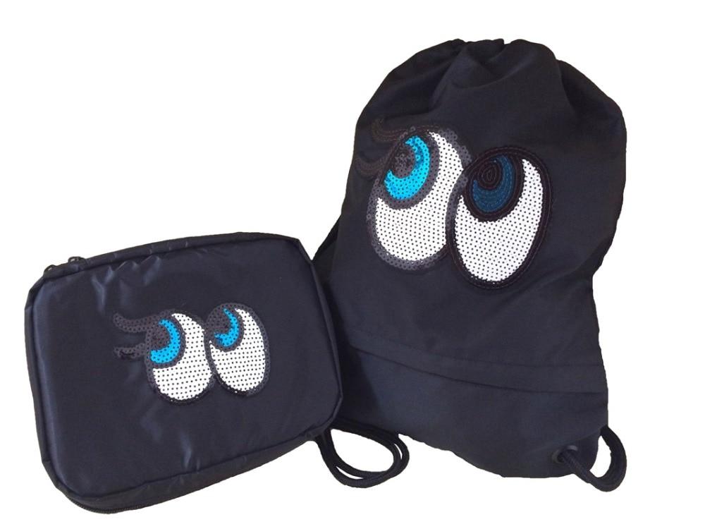 Nylon Emoji Backpacks 3D blingbling shiny big cute eye Bags Drawstring  Backpack school bag storage wash bag arrange travel gifts on Aliexpress.com   49a79d4fcdf0