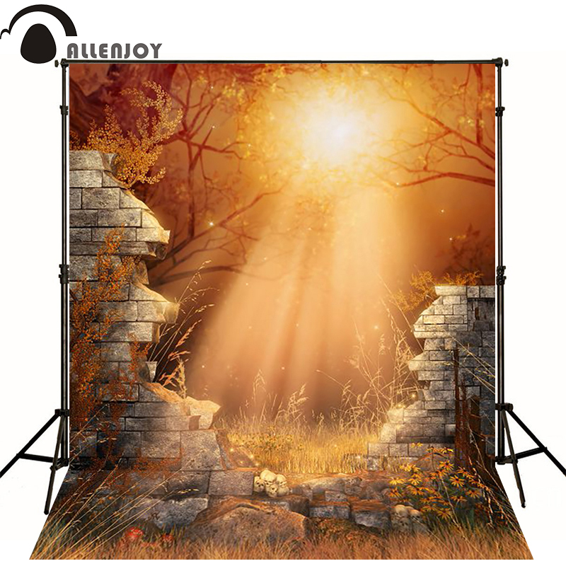 200cm 300cm 6 5x10ft background photo Collapse of the wall strange moonlight halloween backgrounds ZJ