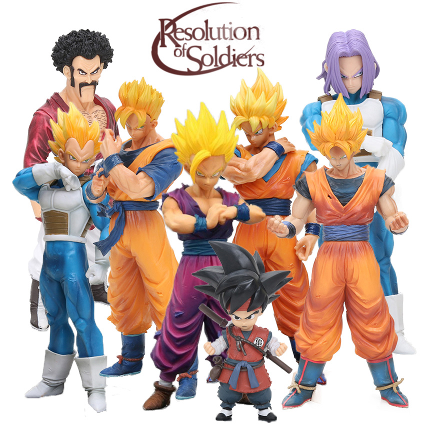 Dragon Ball Z Resolution Of Soldiers Action Figure – Future Gohan Son Goku Vegeta Trunks Hercule Mark Satan | 14-20cm