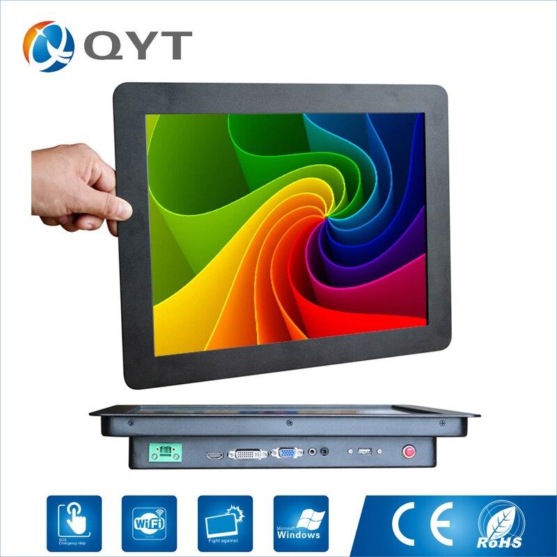 Prix raisonnable 15 pouces 1024x768 lcd publicité écran tactile moniteur avec port vga hdmis