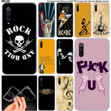 Rock roll Soft Silicone Case for Xiaomi Pocophone