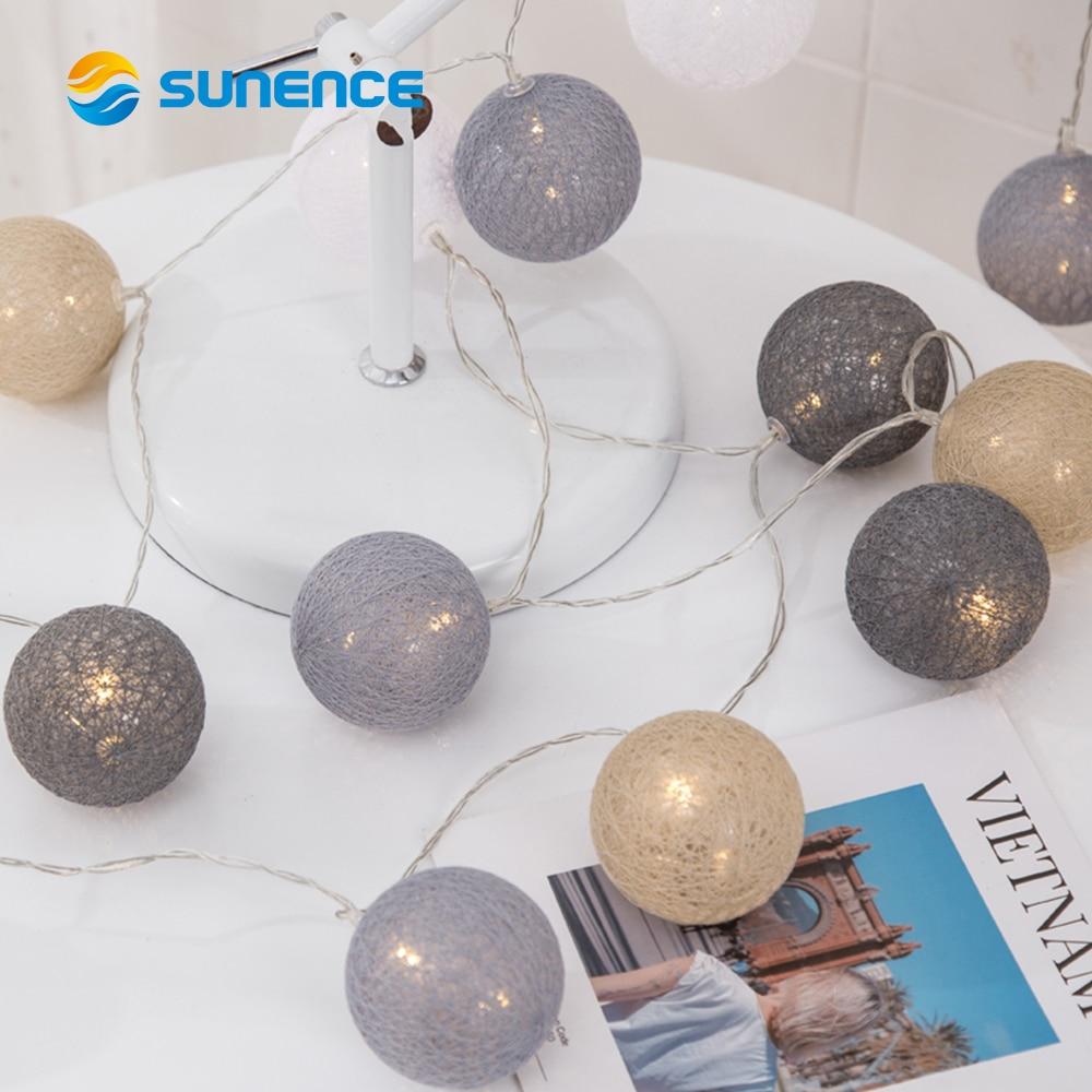 Goodland 2M Rattan Ball LED String Light Fairy Lights Holiday Light for Party Wedding Christmas Garland Gerlyanda Decoration