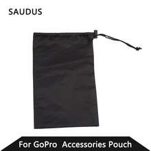 Black Protective Storage Bag Pouch for GoPro Hero 4 1 2 3 3+ Digital Sport Camera Accessories with Rope