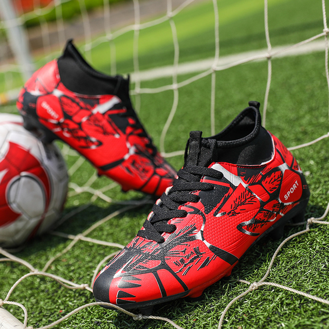 77c5959903a8 Nail Kids Shoes Soccer Children Football Genuine Messi C Luo Soccer High  Top Younger Boys Girls Cleats Boots Turf Sneakers