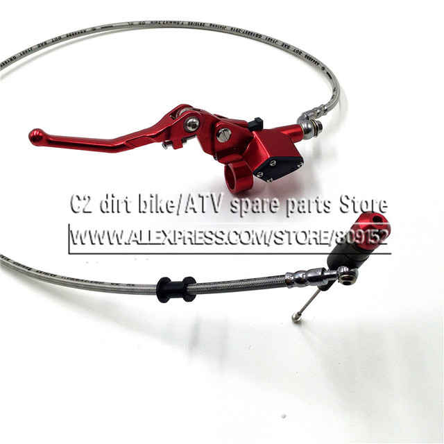 Hydraulic clutch 1200mm lever master cylinder for125-250cc Vertical Engine Off road Motorcycle Pit Dirt Bike Motocross