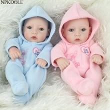 NPKDOLL 25cm Silicone Mini Baby Doll Realistic Lifelike Soft