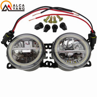 Car Styling 90mm Round Front Bumper Fog Lamps Fog Lights Angel Eye For Citroen C3 C4 C5 C6 C Crosser Xsara Picasso 1999 2015