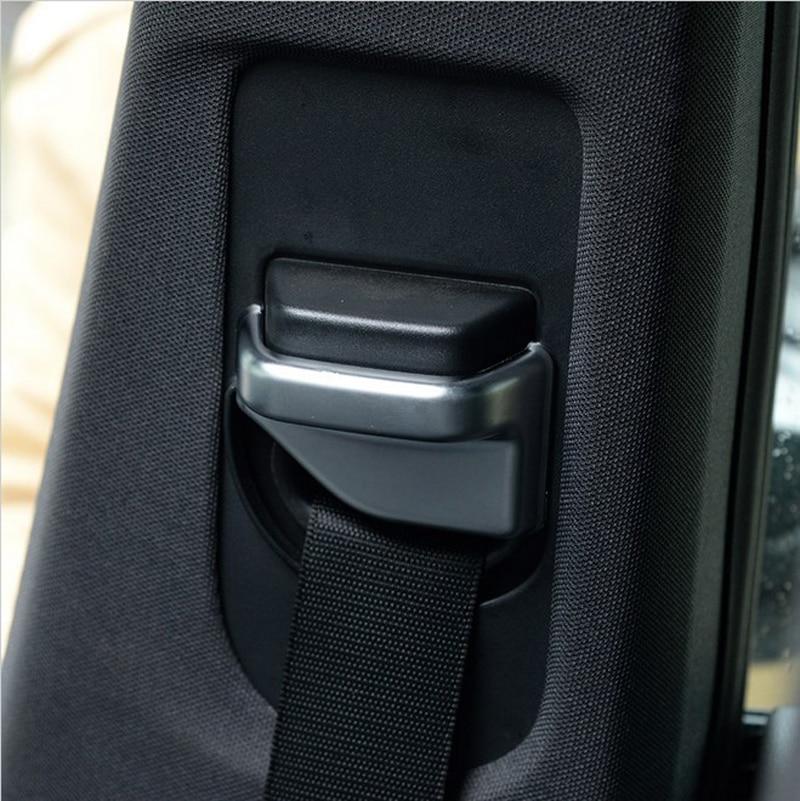 2pcs ABS Chrome Safety Belt Cover Trim For Mercedes Benz B CLA GLA Class W117 C117 W245 W246 B200 B220 Accessory Car-Styling Mercedes-Benz W 176
