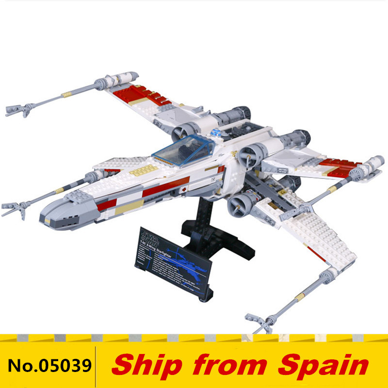 05039 Star plan Series UCS Rebel Red Five X wing Starfighter Model plane Compatible With 10240