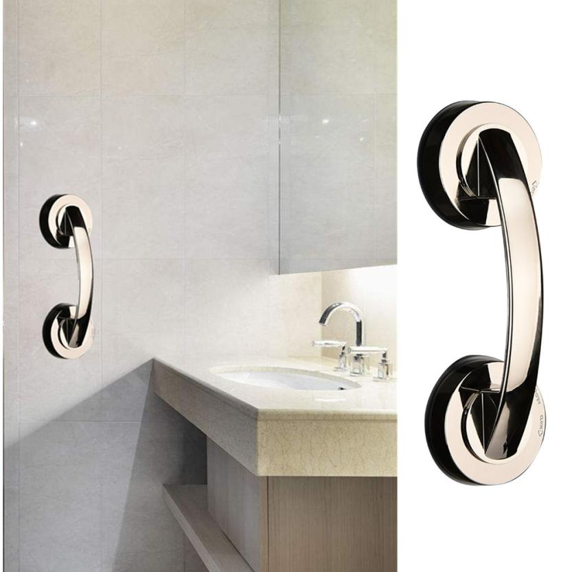 Bathroom Sucker handrail Bath Safety Handle Suction Cup Handrail Grab Bathroom Grip Tub Shower Bar Rail apr3