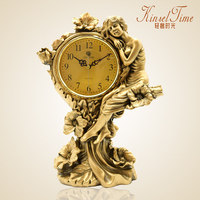 Европейский гостиная немой творческой личности простой деревенский украшения мода настольные часы Ретро кварцевые часы