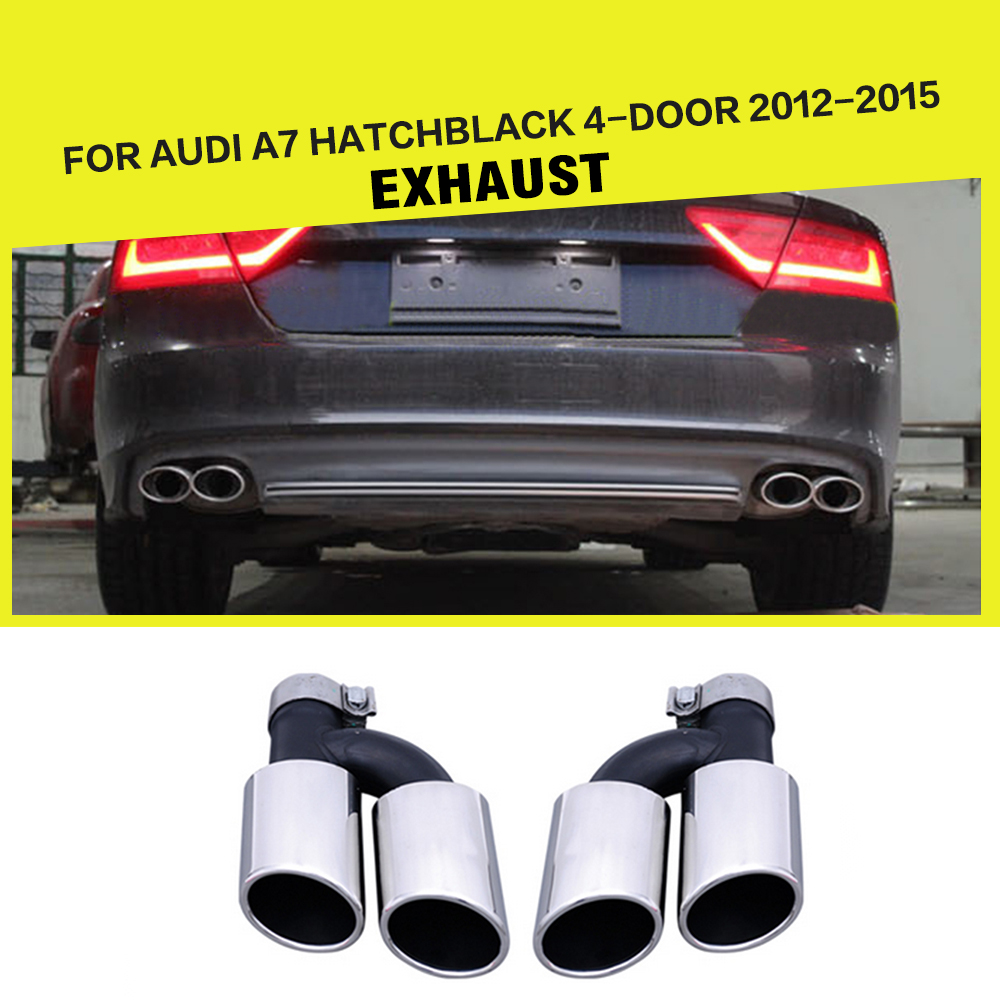 Stainless Steel Auto Car Exhaust Tips Muffler Pipe For