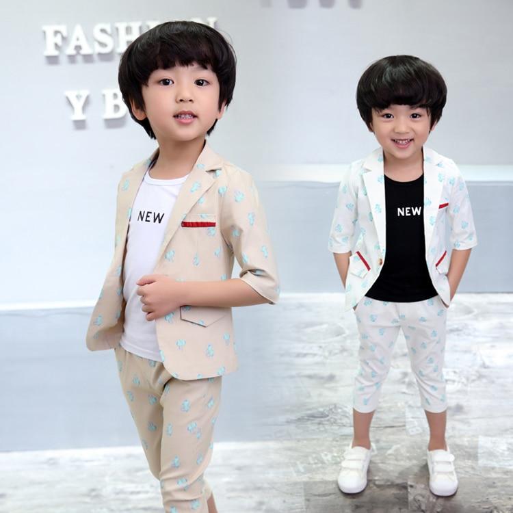 ActhInK Yeni Bebek Erkek Yaz Resmi Karikatür Giyim Seti Çocuklar - Çocuk Giyim - Fotoğraf 5