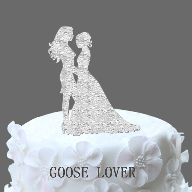 Unique Wedding Cakes.Us 7 19 20 Off Lesbian Acrylic Wedding Cake Topper Same Sex Unique Wedding Cake Topper Lesbian Silhouette Unique Wedding Cake Topper In Cake