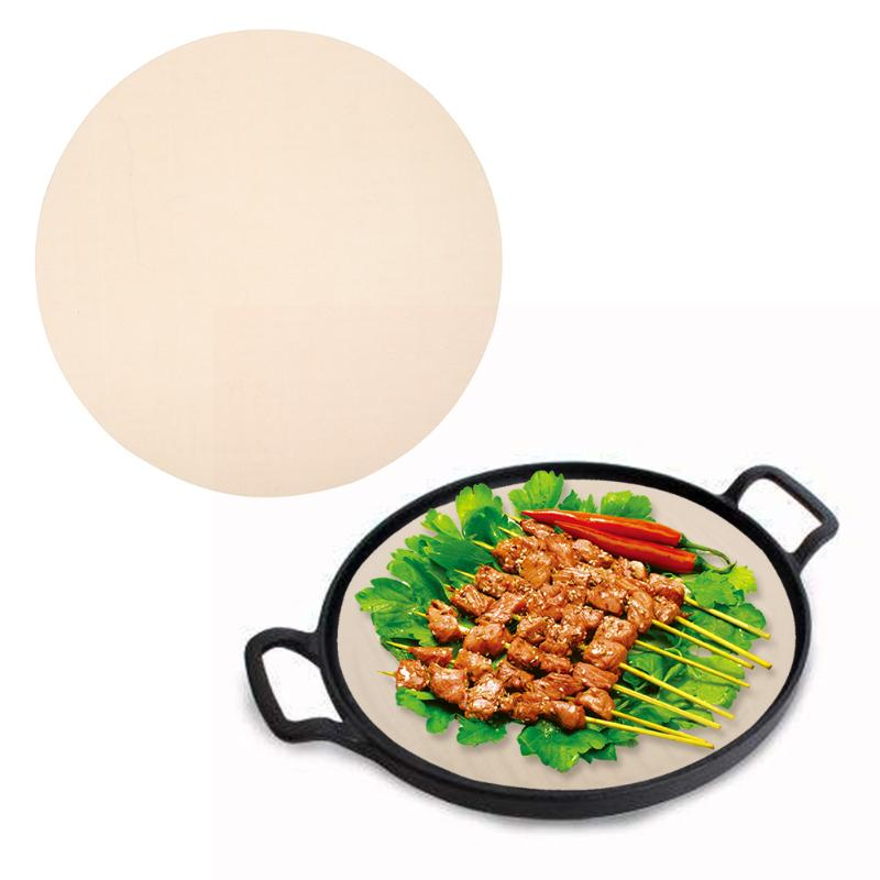Non-Stick Barbecue Grill Mat Household <font><b>Round</b></font> <font><b>Baking</b></font> Mats Heat Resistant Microwave Cooking Pad Sheet Kitchen Accessories image