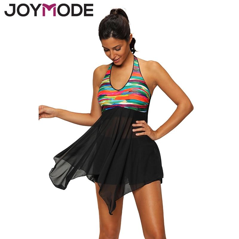 JOYMODE Plus Size Bikini S 4XL 5XL Women Swimwear 2017 Sexy Beach Swimming Dress Bathing Suit Two Pieces Bandage Suit Push Up-E women s business suit dress
