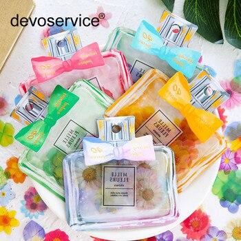 Kawaii lazo-Nudo botella de Perfume pegatina paquete creativo pétalo escama álbum de recortes calendario Etiqueta de cuaderno Memo decoración DIY pegatinas