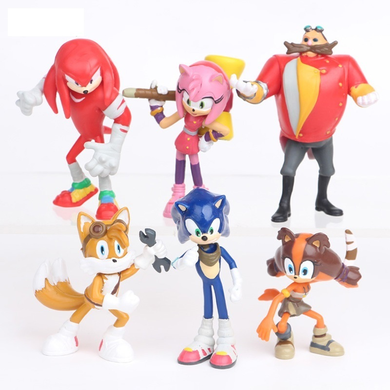 6Pcs/Set Sonic Toys The Hedgehog Figures Toy PVC Toys Sonic Shadow Tails Characters Figure Dolls 3-7CM For Children Dropshipping