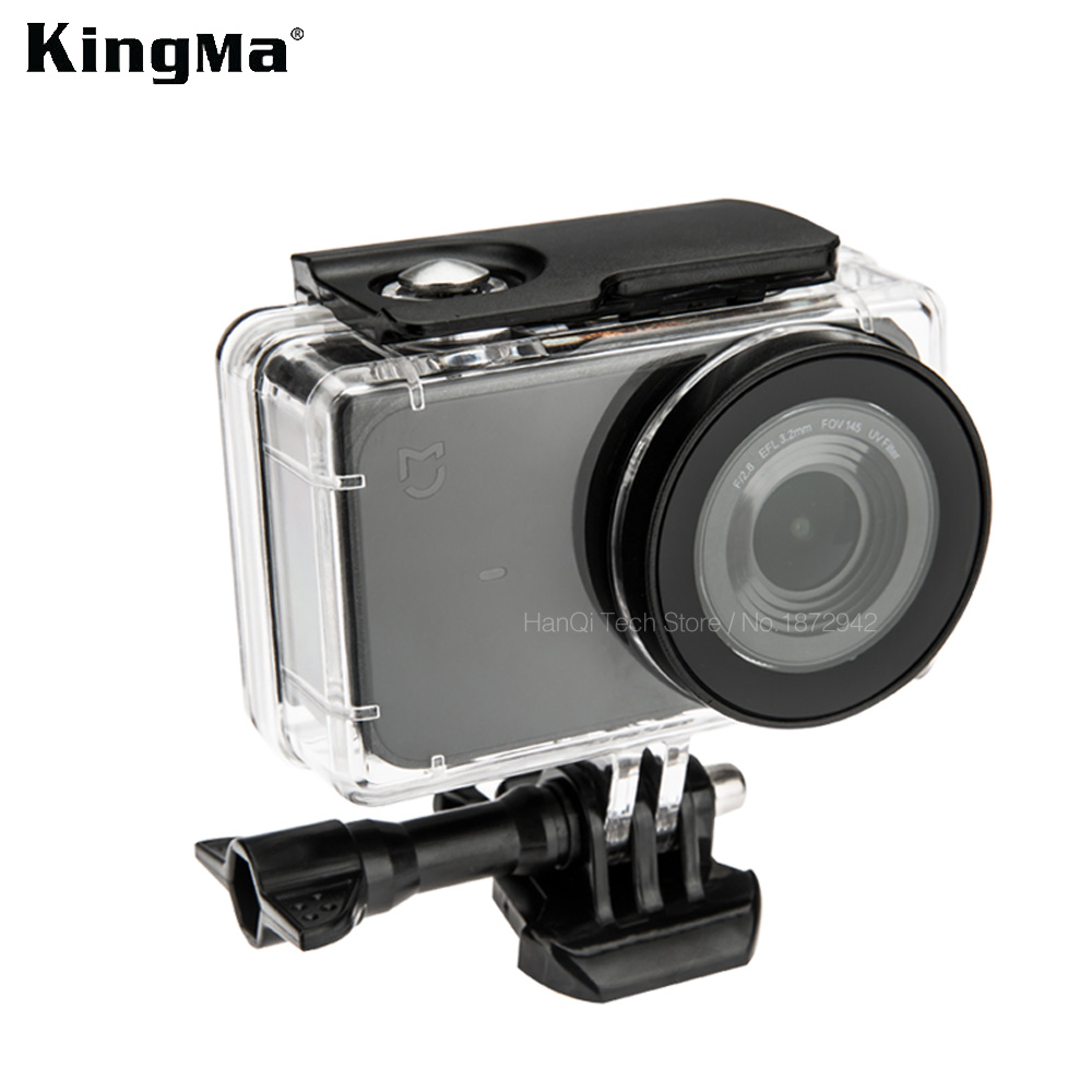KingMa 45M Diving Waterproof Case For Xiaomi Mijia 4K Mini Action Camera Case Cover For Mijia Mini Camera Protective Housing alloet 35m waterproof diving cover case for xiaomi yi 4k 2 ii camera underwater shooting touch screen protector housing case box