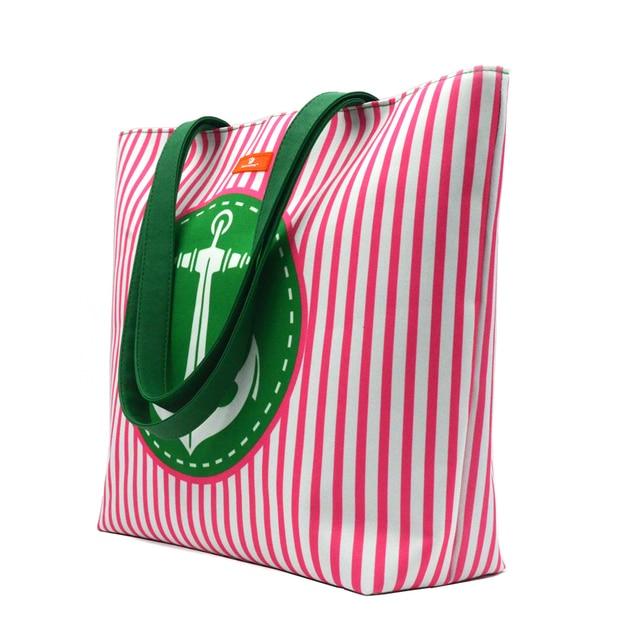 Marine Style Striped Beach Bag 2