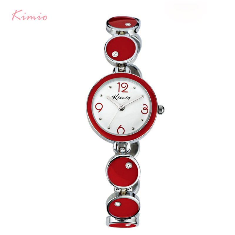 цена KIIMIO Brand Women Small Dial Watches Ladies Fashion Round Crystal Bracelet Watch Clock Female Dress montre femme
