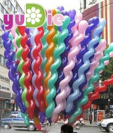 10pcs/lot Long 36inch Screw thread Latex balloon Float air balls inflatable wedding birthday party baloon decoration globos toys