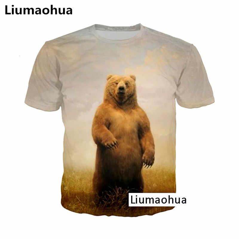 Liumaohua летние новые Для мужчин футболка милые модные Животные футболки с изображением собак 3D с принтом, футболки, топы