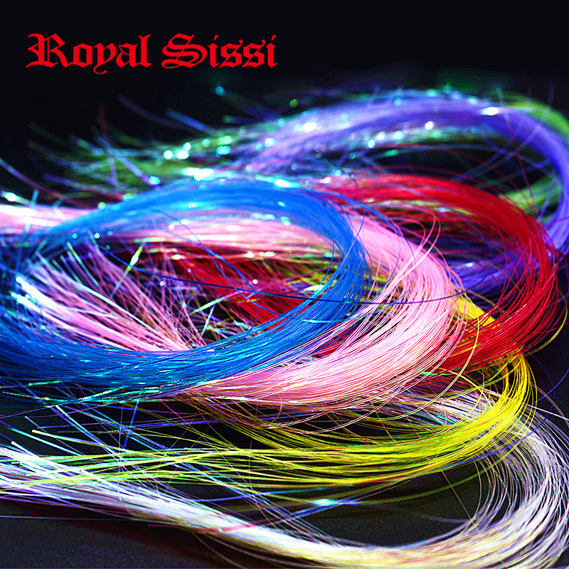 New 8 colors/set pearl Uv Hue Ice Wing Fiber/ width 0.4mm crystal flashabou Tinsel pearl Uv Hue fly tying material for streamers