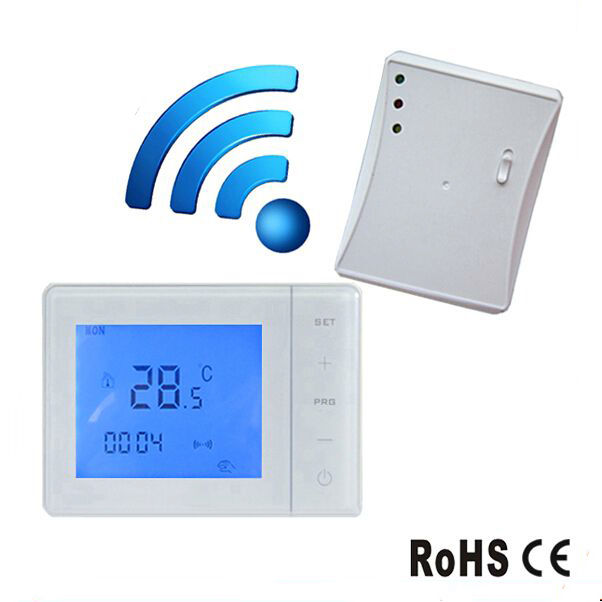 Wireless Thermostat for Infrared Heaters RF Control 433MHZ Temperature Controller radio frequency control wireless boiler thermostat temperature controller