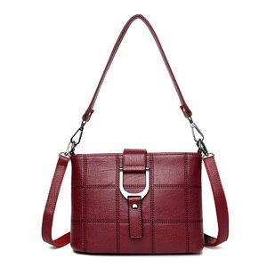 Image 5 - Роскошные клетчатые сумочки PHTESS, женские сумки, дизайнерские Брендовые женские сумки через плечо для женщин, кожаная женская сумка