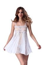 Sexy Lingerie Hot Exotic Sheer Sleepwear Lace Nightwear Babydoll Dress Pajamas  Exotic Underwear  Apparel mesh sheer slip babydoll dress