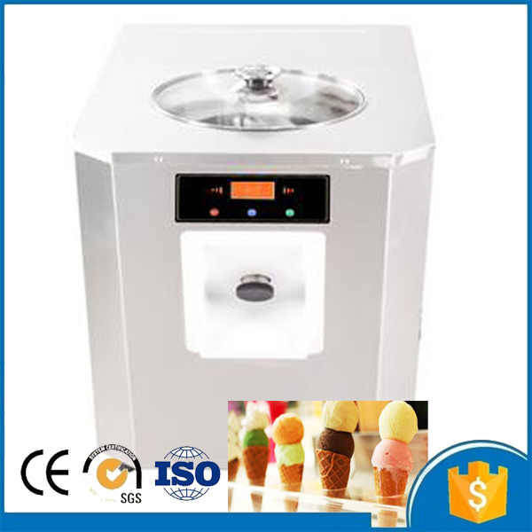 Free Shipping 220v Commercial Hard Ice Cream Maker Machine For Sale With 6L Cooling Cylinder Volume