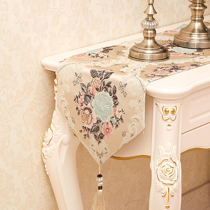 Роскошный Европейский вышивальный стол флаг скатерть вышитые современные настольные бегуны настольный флаг обеденные салфетки домашний текстиль