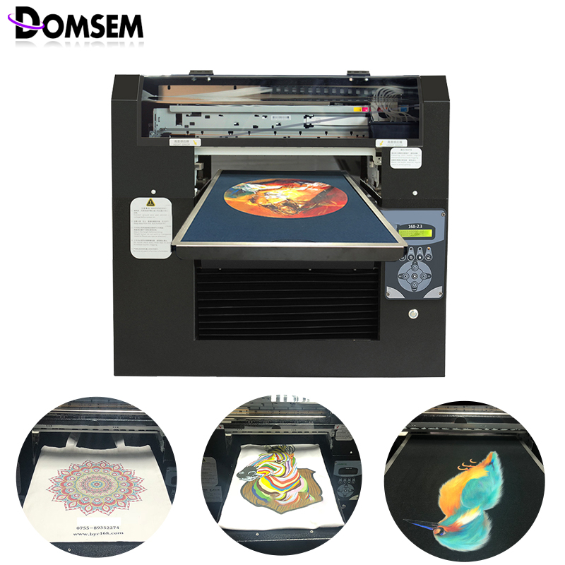 Full-automation DTG Printer 8 Color CMYK+WWWW T-shirt Garment Cloth Printer A3 Size DX5 Head Printing Machine Hi-Speed USB 2.0(China)