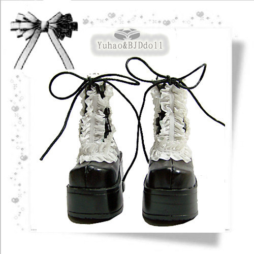 1/3 BJD Doll boots Black paragraph sd luts bjd dz boots - sd16 sd13 new bjd doll jeans lace dress for bjd doll 1 6yosd 1 4 msd 1 3 sd10 sd13 sd16 ip eid luts dod sd doll clothes cwb21
