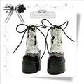 1/3 BJD Doll boots Black paragraph sd luts bjd dz boots - sd16 sd13
