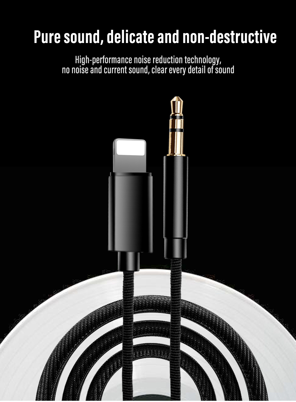 !ACCEZZ AUX Audio Cable To 3.5 mm Jack Speaker Cable For iphone 7 8 X XS MAX XR Car Headphone Headset Aux Converter Audio Jack (2)