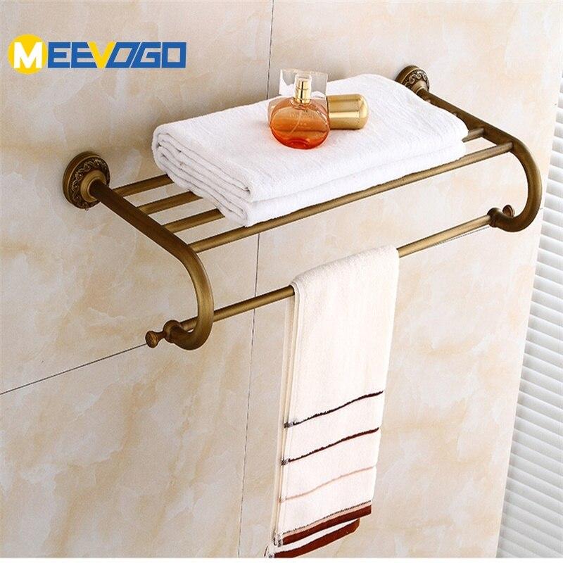 Vintage Towel Storage: MEEVOGO Fashion Antique Brass Bath Towel Rack , Bathroom