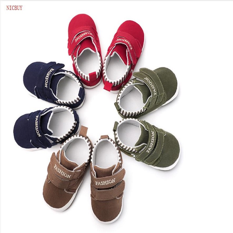 NICBUY 0-1 year old love embroidered Baby Shoes Shoes Soft Infants Crib Shoes Sneakers First Walker