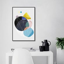 Nordic Minimalist Abstract Geometric Round Decorative Painting Kitchen Wall Art Posters and Prints Home Decor Canvas Pictures(China)